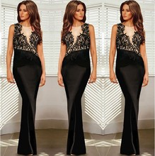 C85301A custom alibaba China 2015 manufacturer Wholesale sexy party dress Applique Lady formal prom Evening dress