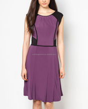 Contrast panel latest evening dresses made in china