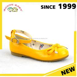Yellow Genuine Leather Or Pu Upper Girl Stylish Footwear