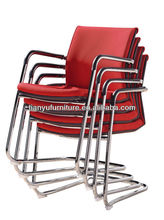 Germany design stacking chairs with fabric and leather office chairs without wheels