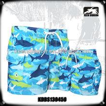 2014 hot sale kids swimwear waterproof microfiber fish printing boys swimwear