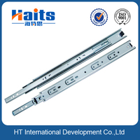 35mm 0.9*0.9*0.9mm 3 fold ball bearing drawer rail, extension mueble slide