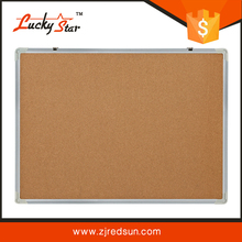 many sizes of non-magnetic wood framed decorate cork buttletin board with roll for sale