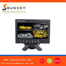 7inch tft lcd rear view split car monitor, 7 display modes