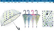 new wholesale cheap cute polka dot custom print kid /child rain umbrella,Funny bulk kids clear plastic umbrellas transparent