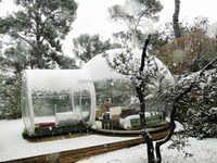 New products transparent inflatable snow dome
