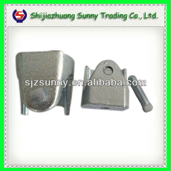 One hole malleable iron straps view