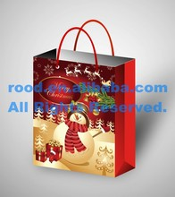 Fashion New Designed Factory Direct Price Decorative Custom Christmas Paper Gift Bags, Christmas Gift Bags Paper
