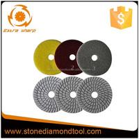 3 Step 5 Inch 125mm Diamond White Sprial Resin Wet Dry Polishing Pads