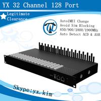 Low price 32-128 sim box gsm voip gateway, gsm gateway 32 sim cards box with sip/sms/ussd, multi port gsm sim box