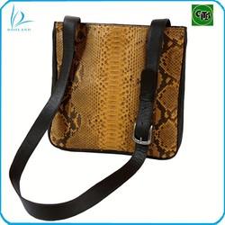 Wholesale top high quality real python skin shoulder bag