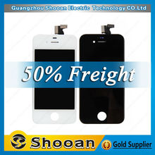 100% original assembly for iphone 4s lcd,back cover assembly for iphone 4s