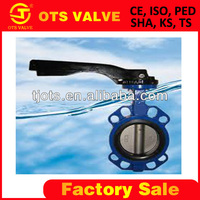 BV-SY-305 SUS 316 rubber seal butterfly valve dn 50 ANSI 150LB 5inch dn250