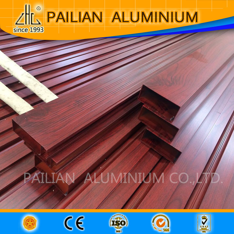 wood grain aluminium tube pipe (208)