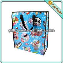 shopping bag - pp woven bag with zipper