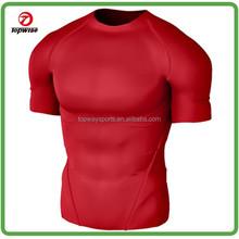 Men's Tech Short Sleeve red compression wear