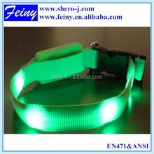 100% polyester wholesale hi vis green led collar safety vest dog