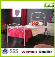 OEM Custom Modern Metal Bed Iron Wrought Double Bed of Bedroom Furniture