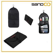 Sandoo foldable toiletry bag, black travel hanging travel toiletry bag
