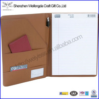 2015 Top Sale A4/Letter Size Executive Leather Writing Pad Folder