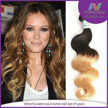 Fashion star models temperament natural omdre wave Brazilian virgin human hair true