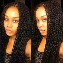 2015 hot new design african american braided wigs long black wig synthetic lace front wig heat resistant