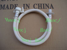 Washing machine inlet flexible pipe plastic hose water inlet extension pipe with white connector