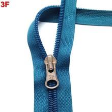 #5 zipper nylon long chain zipper with cheap price for beach bag & tote bag FX1397
