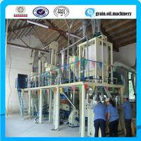 10-200 T/D Corn/maize flour mill grits mill machine