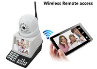 wanscam 4 in 1 Wireless Mobile Phone Network Camera Video Call Chat + Record function + Remote monitor + CCTV & Alarm System