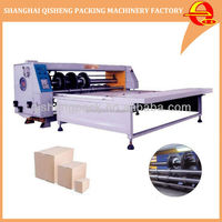 Corrugated corrugated paper cardboard rotary creasing slotter carton box making machine prices
