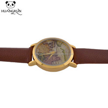 OEM top brand leather vogue mens chronograph watches