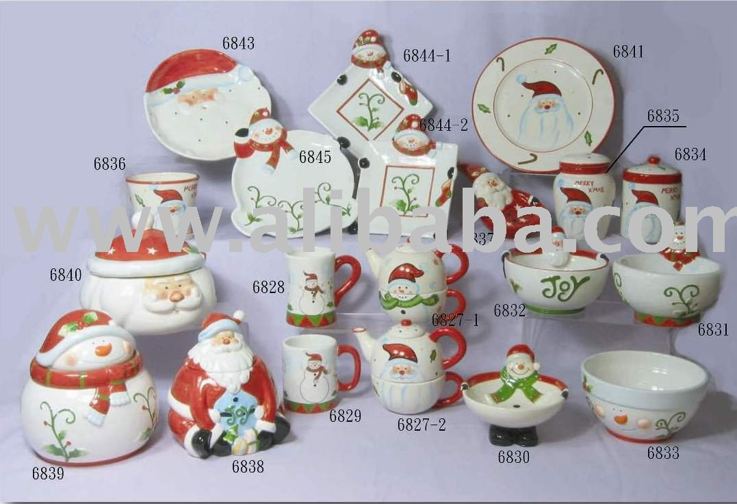 Navidad vajilla de cer mica otras vajillas identificaci n - Vajilla de navidad ...