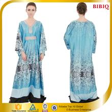 Dongguan BIBIQ Plus Size Women Digital Print Kaftan Muslim Dress Long