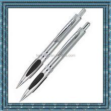 Silicon grip aluminum ballpoint pen2438,mechanical pencil,promotion pen