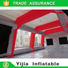 Mobile inflatable paint booth for automotive refinish
