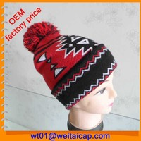 Cheap red knitting patterns free pom pom beanies winter hat custom made beanie