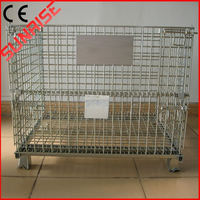 foldable galvanized wire mesh container metal floor display stand