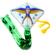 2015 New Fashion 30pc/String Swallow Flying Kite Outdoor Mini Colorful Fly Kites 28*24cm
