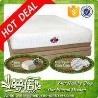 bedroom sleeping zipper memory foam king latex mattress