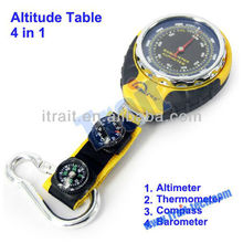 2015 BKT381 4 in 1 Altimeter Watch , Barometer Compass watch , Thermometer With Hook For Camping Outdoor Sports watch