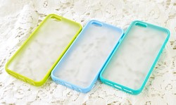 Shock-Absorption Bumper Cover Case For iPhone 4 4S 5 5S 6 6Plus