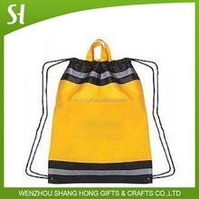 Custom logo foldable ball sleeve drawstring sport non woven thicken backpack shoe bag sack for promotion gift travel kid school