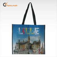 Recycled laminated non woven shopping bag