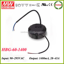 Meanwell constant current led driver HBG-60-1400
