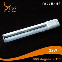 New personal mould 360 degree plug lamp 22w 2G11 360 degree plug led tube light