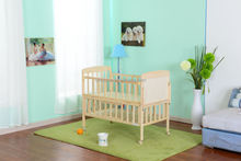 Wooden baby crib/bed New Zealand pine wood