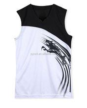 sports basketball mesh fabric clothes breathable shirt