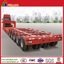 2015 new manufacturer multi-axles 5 lines 10 axles heavy duty 120-200ton special low bed semi trailers for sale