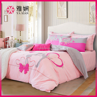 High Quality 100% cotton bed sheet embroidery design